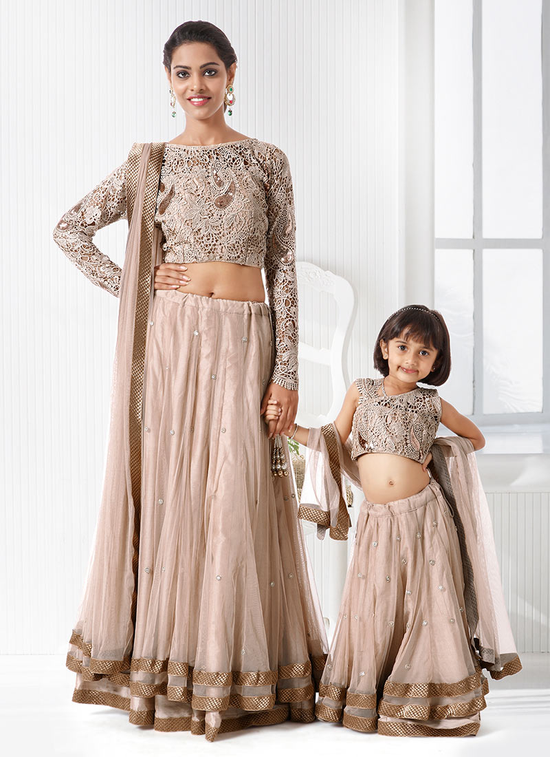 Buy Magenta N Blue Mother Daughter Combo, Saree with