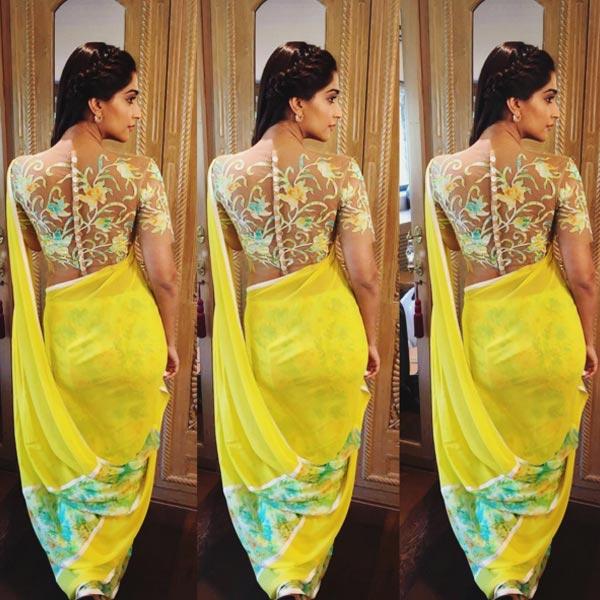 Sonam Kapoor In Abu Jani Sandeep Khosla For Neerja Promotions 201602 666859 Indian Fashion Mantra