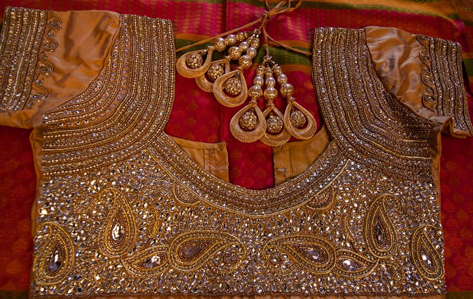 Trending bridal saree blouse this wedding season indian