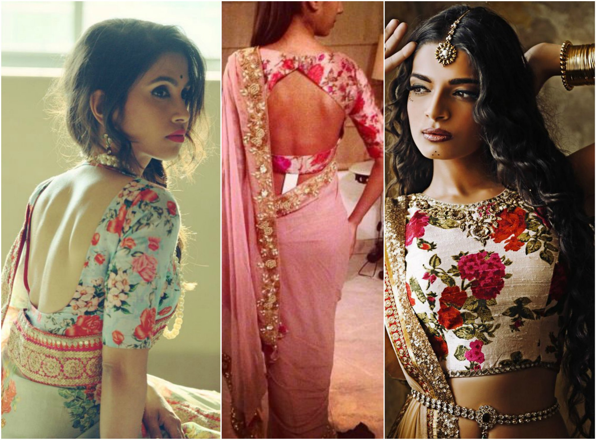 7ee6d4082d 5 Awesome Border Sarees with Designer Blouse Ideas | Indian Fashion ...