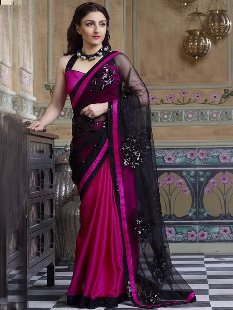 3080bada24 black-with-pink-designer-saree-by-soha-ali-khan – Indian Fashion Mantra