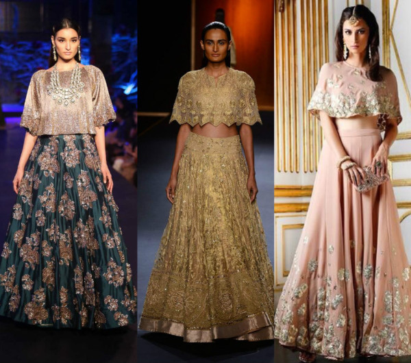 7 modern lehenga designs for wedding indian fashion mantra for Cape designs