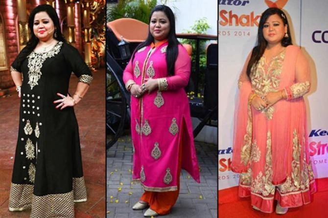 838288d5c1 Plus Size Dresses Ideas to Steal from Bharti Singh | Indian Fashion ...