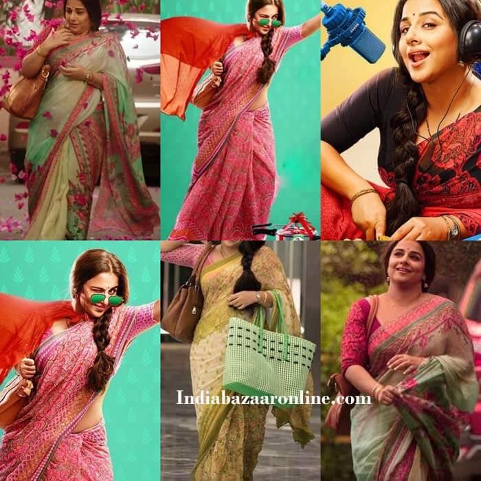 a50748a27bf65c vidya-balan-tumhari-sulu-sarees | Indian Fashion Mantra