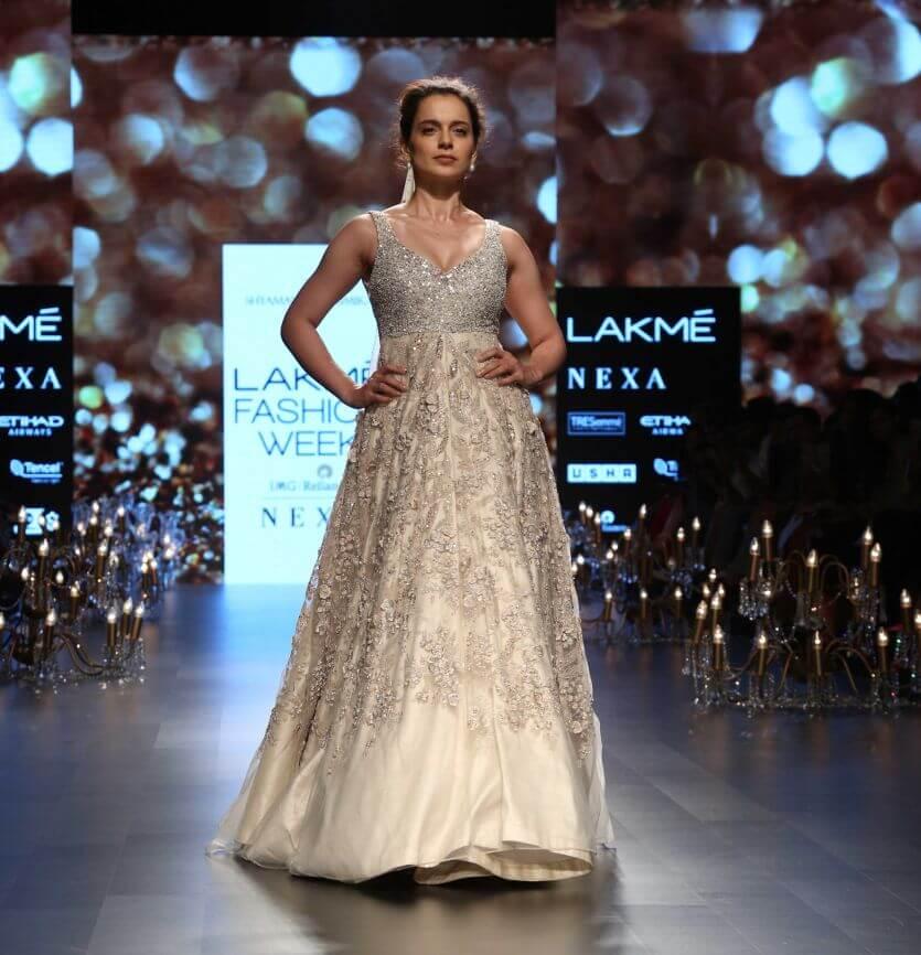 17b2ec10f5 Sushmita Sen In a Royal Lehenga at Lakme Fashion Week 2018. Indian actress  Sushmita Sen walked the ramp ...