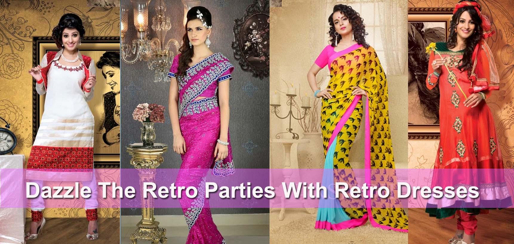 Retro Dresses Indian Fashion Mantra
