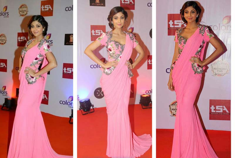 d7aa340d03 shilpa-shetty-in-pink-saree – Indian Fashion Mantra