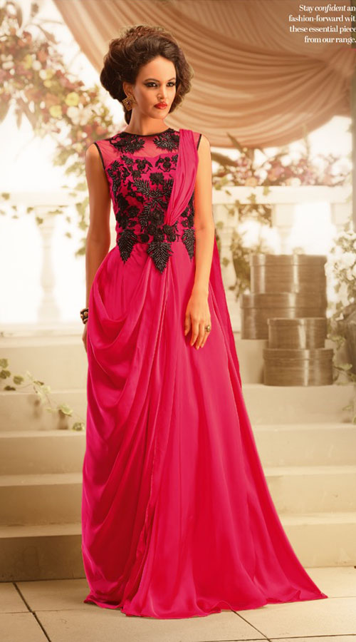 lovely-ruby-faux-georgette-designer-indowestern-gown-br105191__ ...