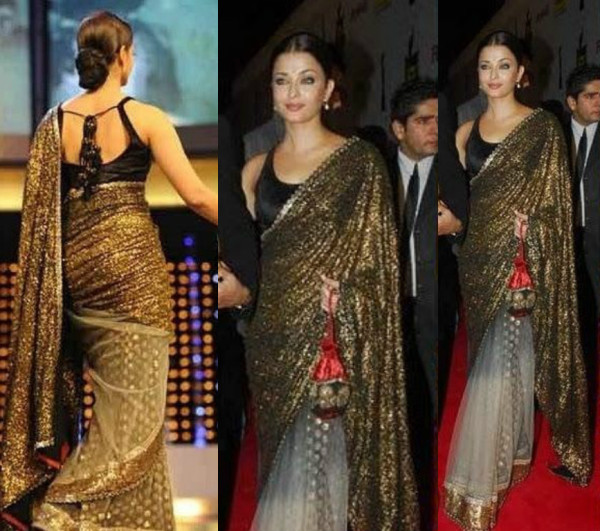 Aishwarya-Rai-in-a-sequins-saree-by-Sabysachi – Indian Fashion Mantra
