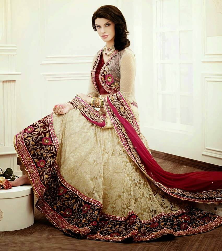 latest fashion design indian bridal wedding lehenga choli avalon