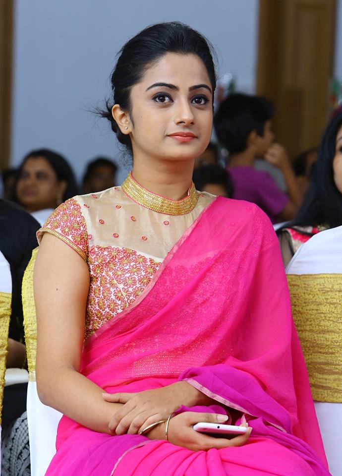 Namitha Pramod In Pink Saree Indian Fashion Mantra