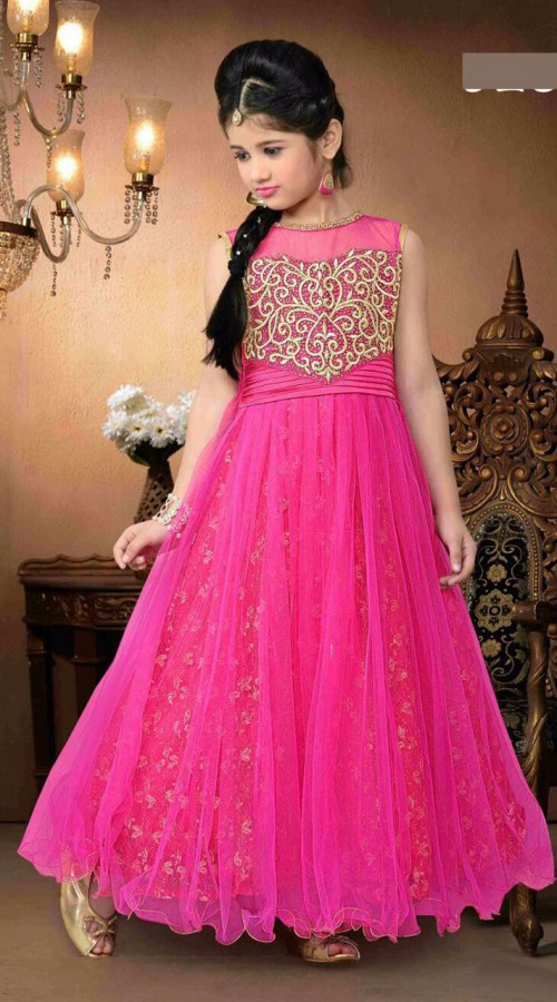 beautifully-crafted-magenta-net-kids-girl-designer-gown-dt92856__ ...