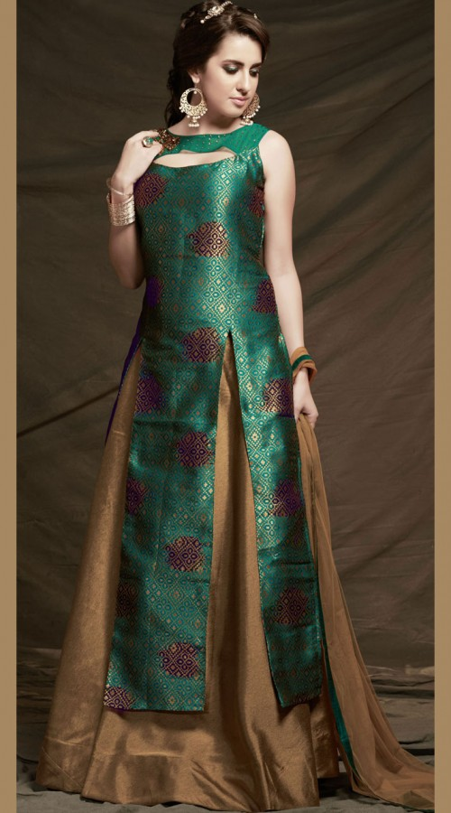 fe9cd7f9da fabulous-rama-green-three-cut-kameez-with-golden-raw-silk-skirt -2wv600905__86249_std