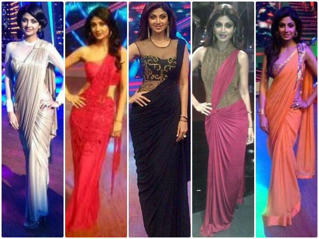 shilpa-shetty-saree-gowns – Indian Fashion Mantra